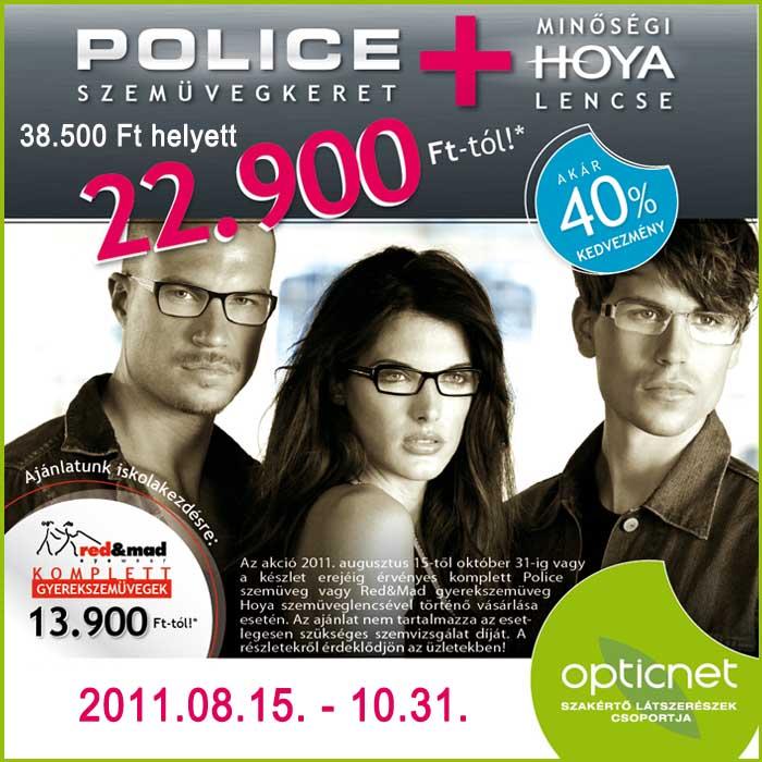 police szemüveg akció