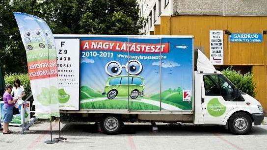 a nagy látásteszt szűrőbusza