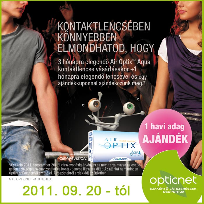 Air Optix kontaktlencse akció