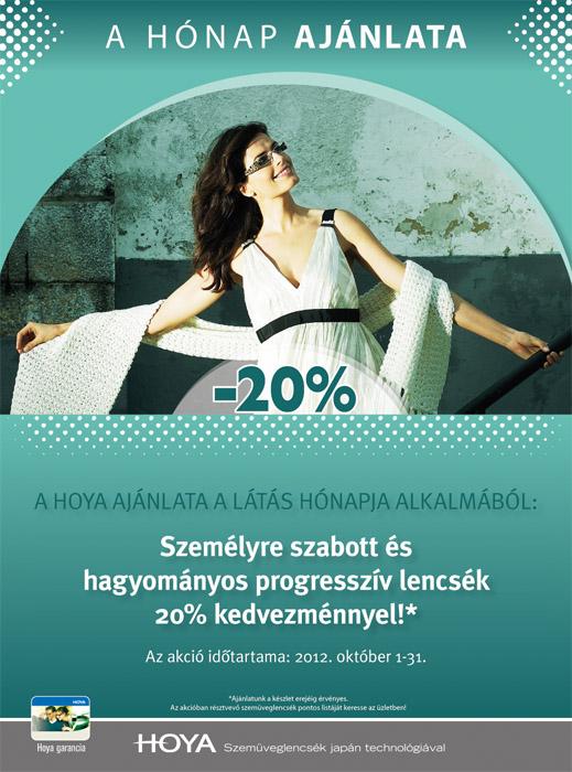 20% kedvezmény progresszív lencsékre a látás hónapjában