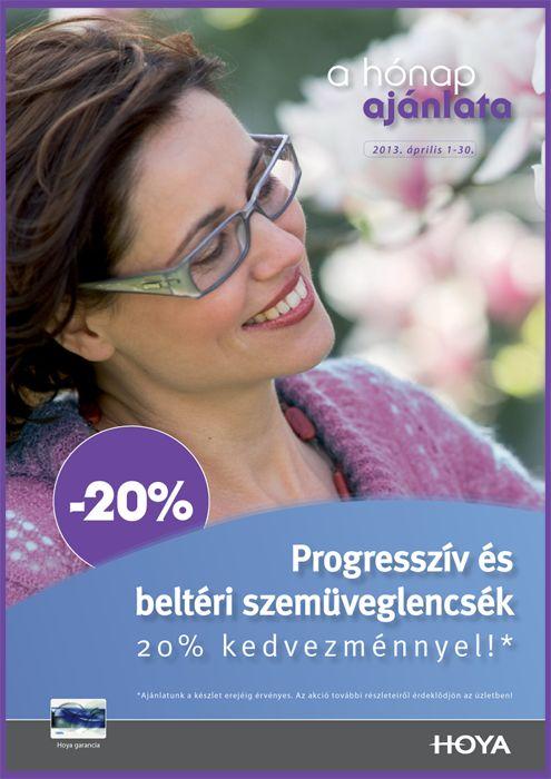 Progresszív és beltéri lencsék 20% kedvezménnyel