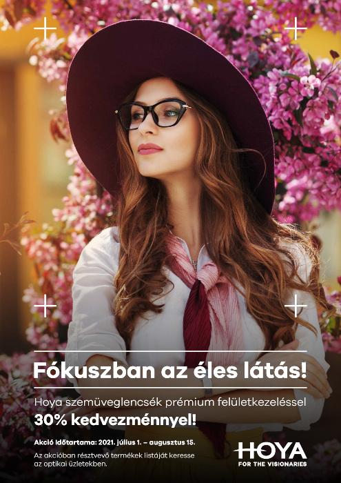 Hoya egyfókuszú szemüveglencsék 30% kedvezménnyel!